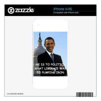 anti obama joke skin for iPhone 4S