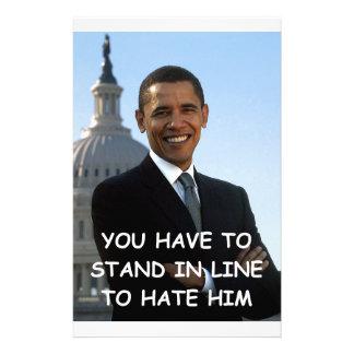 anti obama joke stationery design