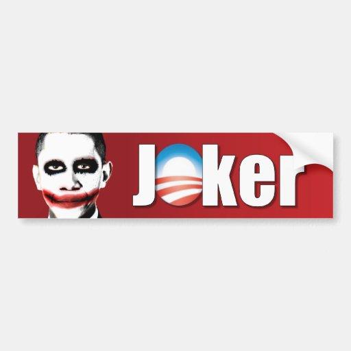 Anti Obama Joker Bumper Sticker