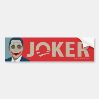 Anti-Obama Joker Bumper Sticker