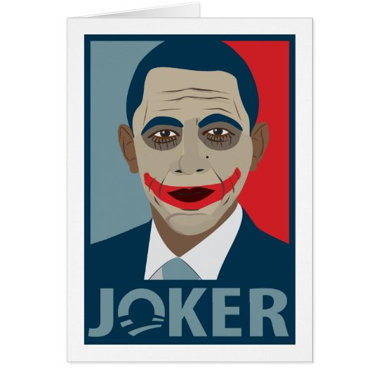 Anti-Obama Joker Card