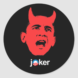 Anti-Obama - Joker Classic Round Sticker