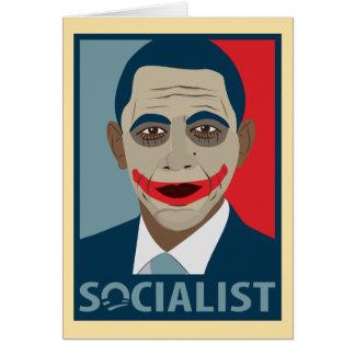 Anti-Obama Joker Socialist Greeting Card