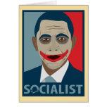 Anti-Obama Joker Socialist Greeting Cards