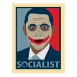 Anti-Obama Joker Socialist Postcard