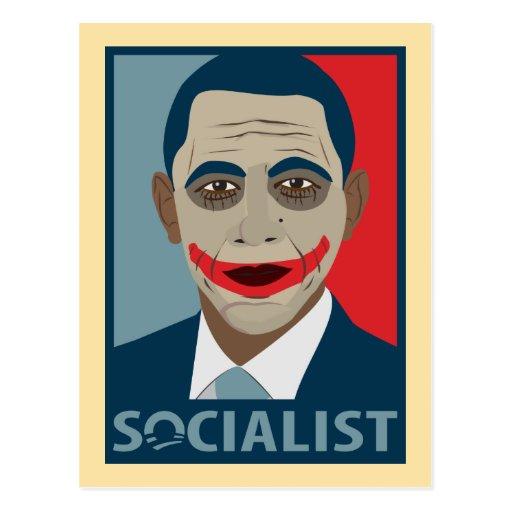 Anti-Obama Joker Socialist Post Card