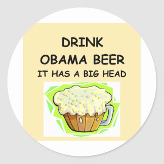 anti obama jokes classic round sticker