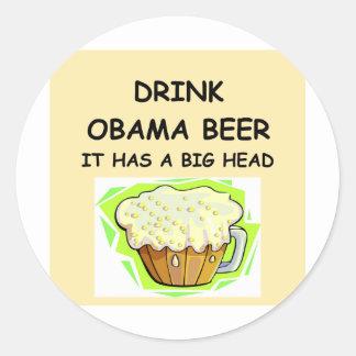 anti obama jokes classic round sticker