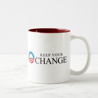 Anti-Obama - Keep your change black Mug