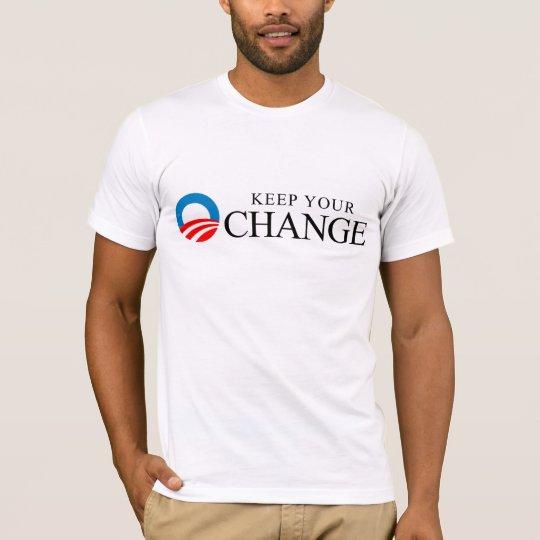 Anti-Obama - Keep your change black T-Shirt
