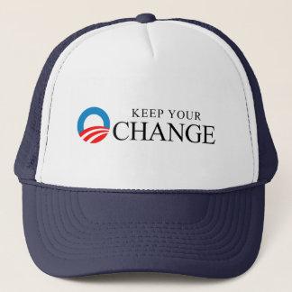 Anti-Obama - Keep your change black Trucker Hat