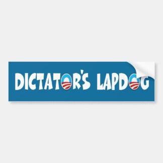 Anti Obama,lap dog Obama Car Bumper Sticker