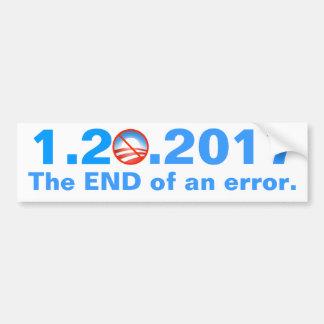 Anti-Obama - Last Day - The end of an error Bumper Sticker