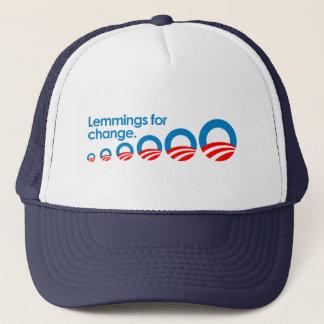Anti-Obama - Lemmings for change Trucker Hat