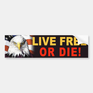 "anti Obama ""Live Free Or Die"" bumper sticker"