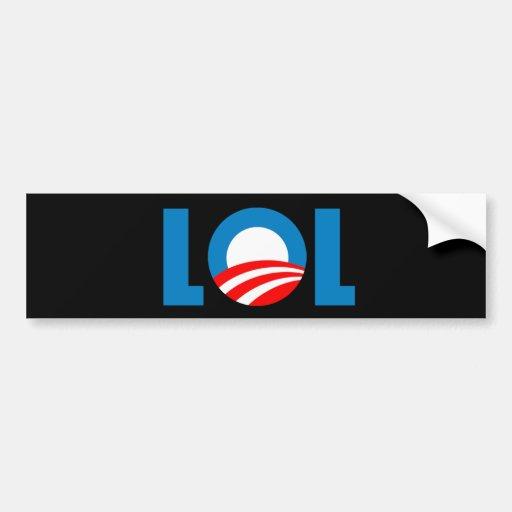 Anti-Obama - LOL Etiqueta De Parachoque
