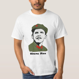 Anti Obama Mao Politics T shirt Conservative