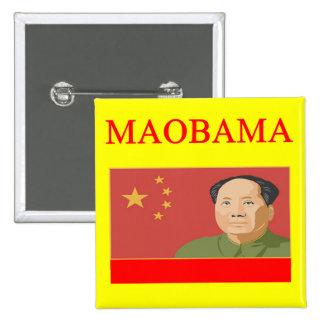 anti obama MAOBAMA 2 Inch Square Button