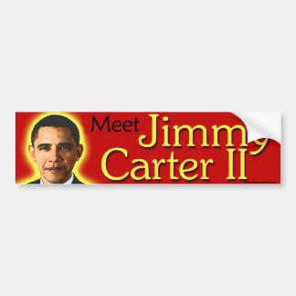 """anti Obama """"Meet Jimmy Carter II"""" bumper sticker"""