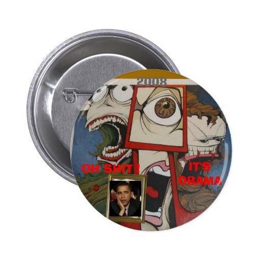 anti obama monsters pinback button