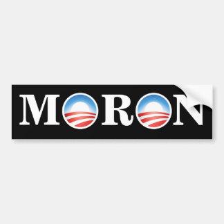 Anti-Obama MORON Bumper Sticker