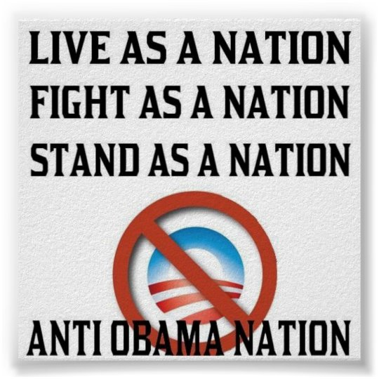 Anti Obama Nation Poster