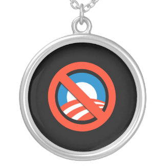 Anti-Obama Round Pendant Necklace