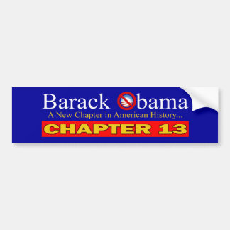 Anti-Obama - New Chapter...Bankruptcy Bumper Sticker