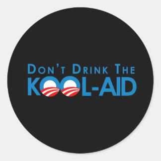Anti-Obama - no beba la kool-ayuda Pegatina Redonda
