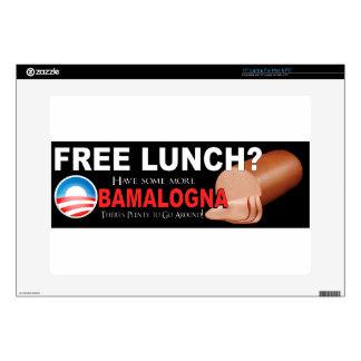 ¡Anti-Obama no más de Boloney 15 piel del orden Calcomanías Para 38,1cm Portátiles