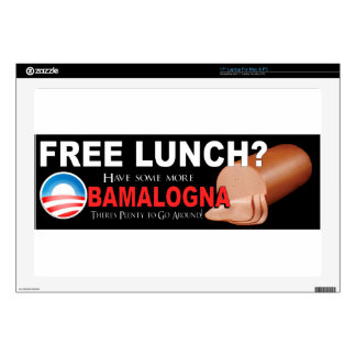 ¡Anti-Obama no más de Boloney 17 piel del orde Portátil 43,2cm Skins