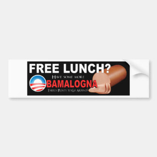 ¡Anti-Obama no más de Boloney Pegatina De Parachoque