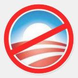 Anti-Obama - No Obama 2012 Round Stickers
