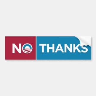 Anti Obama No Thanks Bumper Sticker Romney Ryan Car Bumper Sticker