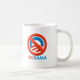 ANTI-OBAMA - NOBAMA COFFEE MUG