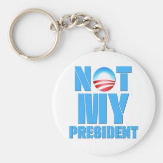 Anti Obama Not My President Basic Round Button Keychain