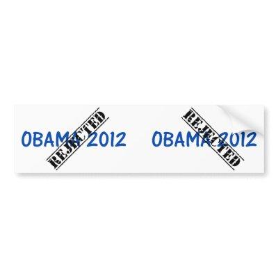 Vote not Obama 2012 bumper sticker