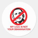 Anti-Obama - Not your Obamanation Sticker