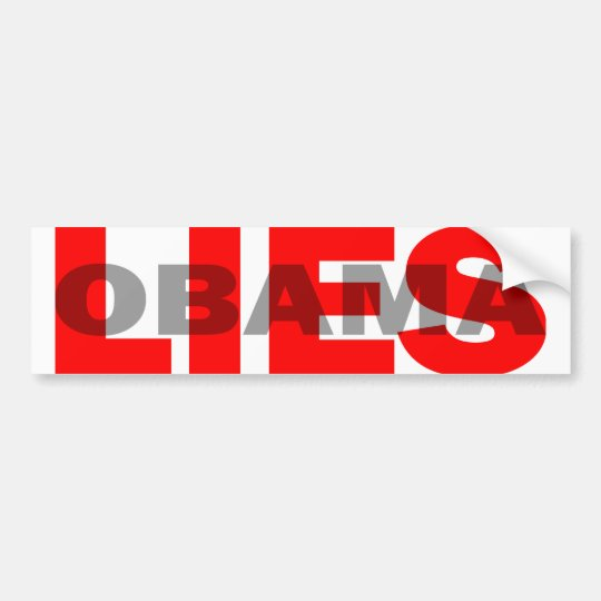 "Anti Obama ""Obama Lies"" Bumper Sticker"