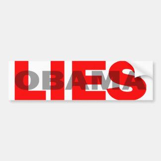 """Anti Obama """"Obama Lies"""" Car Bumper Sticker"""