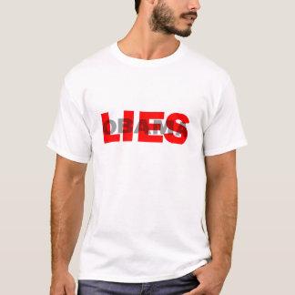 """anti Obama """"Obama Lies"""" T-shirt"""