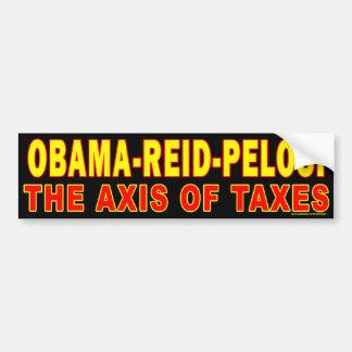 """anti Obama """"Obama Reid Pelosi Axis"""" bumper sticker Car Bumper Sticker"""
