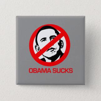 Anti-Obama - Obama Sucks Pinback Button