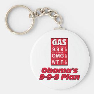 Anti Obama: Obama's 999 Plan High Gas Prices Keychain
