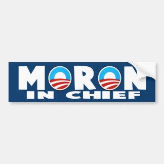 Anti Obama Obama's a moron Bumper Sticker