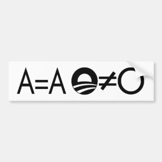 Anti-Obama Objectivist bumper sticker