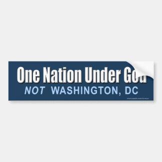 """anti Obama """"One Nation Under God"""" Sticker"""