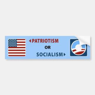 Anti-Obama Patriotism or Socialism Bumper Sticker
