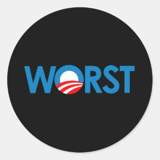 Anti-Obama - peor Etiqueta Redonda