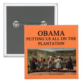 anti obama plantation 2 inch square button